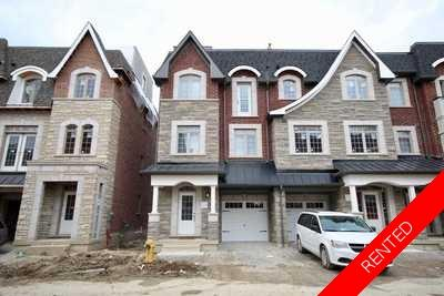 Vaughan Townhouse:  3 bedroom